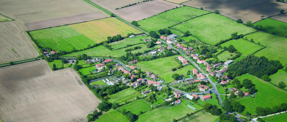 Thornton-le-Clay aerial shot
